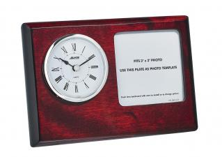 Quartz Gift Clock with Engraving Plate