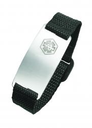 STEEL/ VELCRO MEDICAL ID BRACELET
