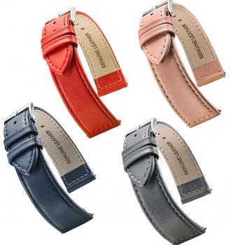 FLAT STITCHED LEATHER 12 TO 22MM - 7 COLORS