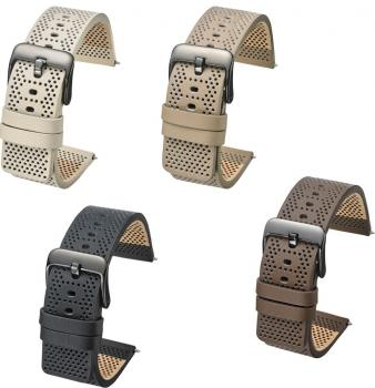 SOFT THIN PERFORATED LEATHER 22 - 22MM