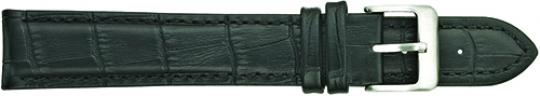 Leather - Padded Stitched Alligator Grain Leather Band