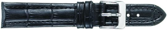 Leather - Padded Stitched Alligator Grain (Long Band)