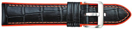 Leather - Alligator Grain Leather w. Silicone lining